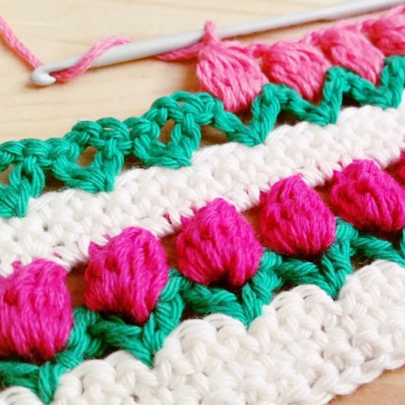 primavera punto puntada crochet