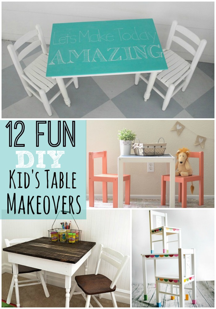 12 Fun DIY Kid's Table Makeovers