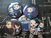 Downton Abbey Buttons, Magnets and Pocket Mirrors!