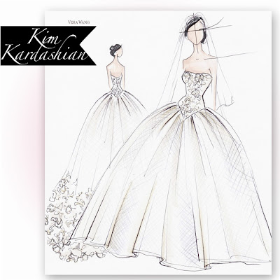 Vera wang wedding dress sketches gift