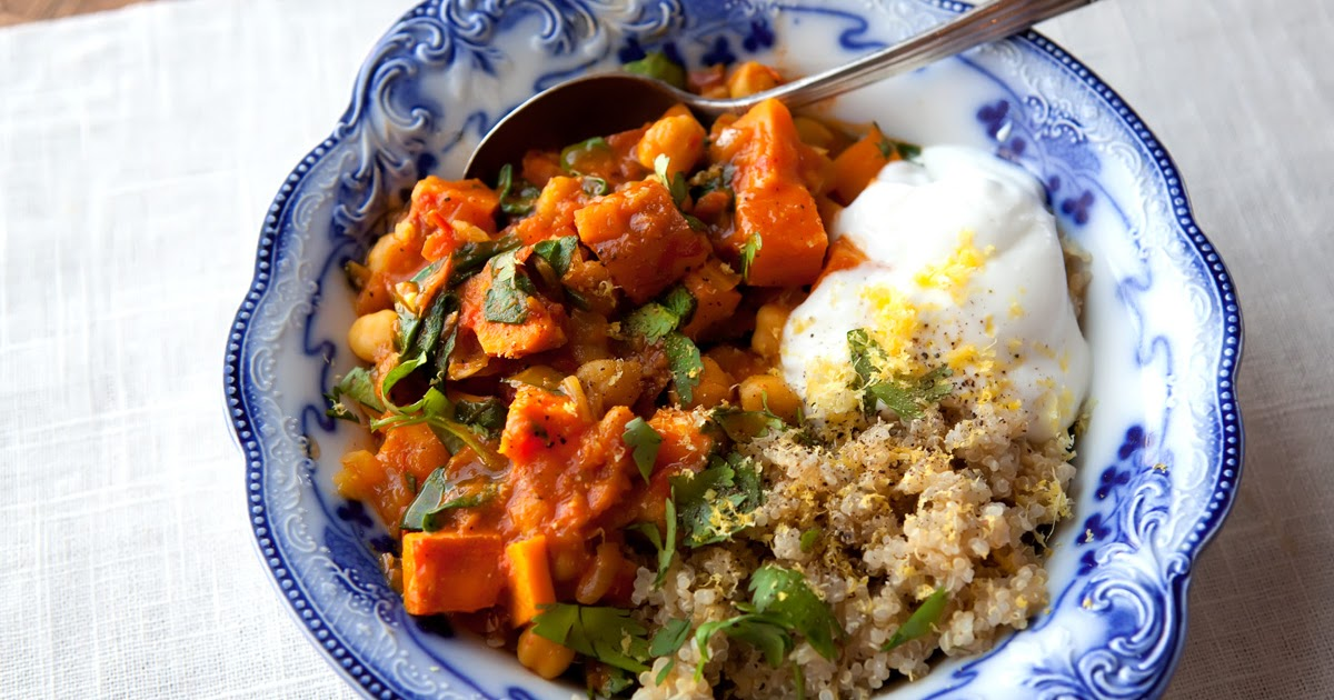 The Flour Sack: Moroccan Chickpea & Sweet Potato Stew with Quinoa