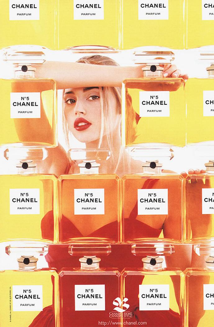 via fashioned by love | Estella Warren in Chanel No. 5 1998 campaign