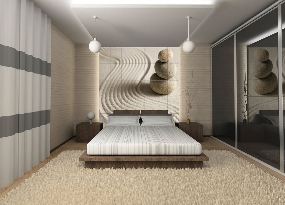 The shopping online chambre a coucher decoration murale Chambre contemporaine zen