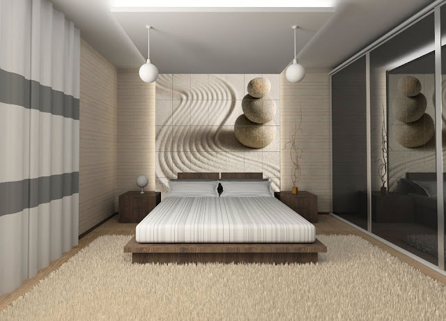 Chambre a coucher decoration murale