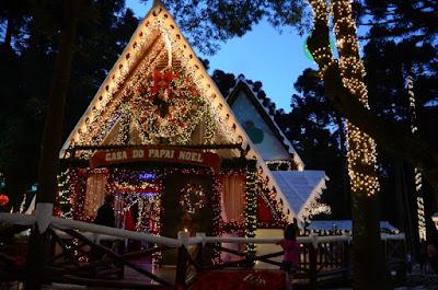 Casa do Papai Noel Parque da fonte em São José dos Pinhais