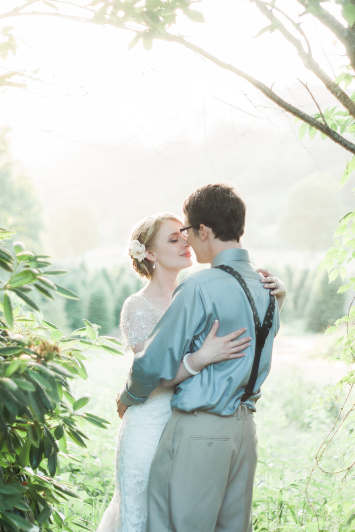 A Backyard Christmas Tree Farm NC Wedding Photos