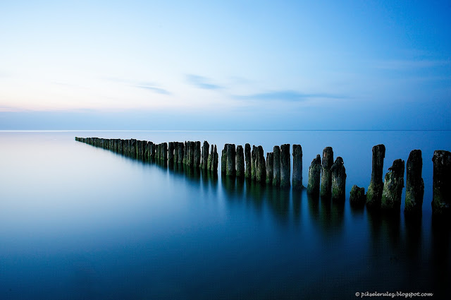 long exposure, Kołobrzeg, plaża, długa ekspozycja, kolor
