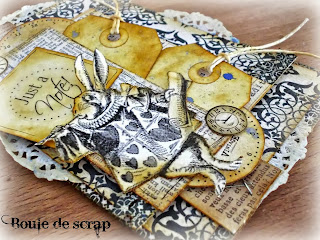 SRM Stickers Blog - Vintage Card by Angélique - #card #thinking of you #stickers #fancy #twine