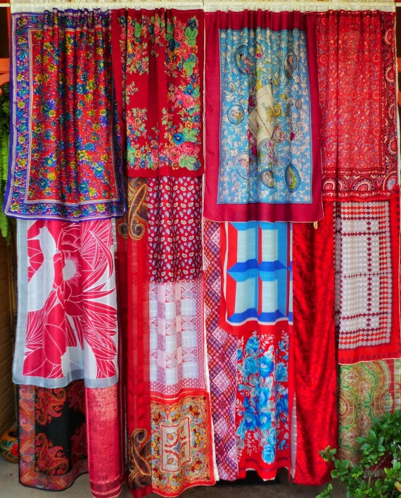 Red Boho Curtains