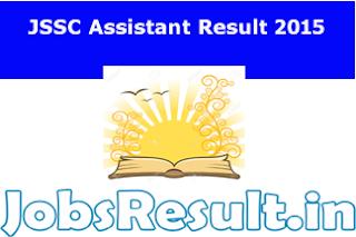 JSSC Assistant Result 2015