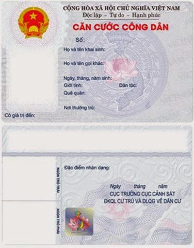 Mẫu thẻ căn cước được Bộ Công an giới thiệu.