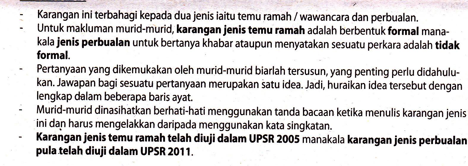 Soalan : Rakan kamu baru sahaja terpilih sebagai Murid Terbaik UPSR