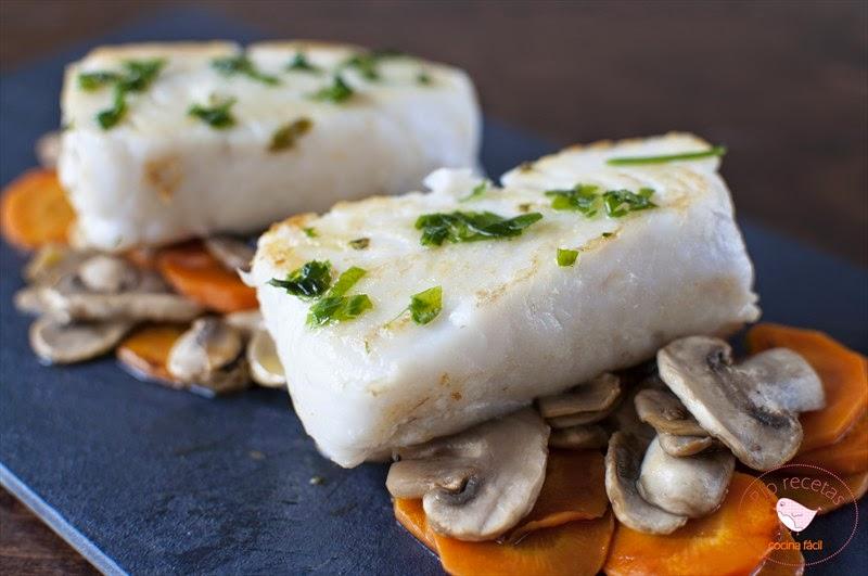 Merluza con verduras,receta de dieta