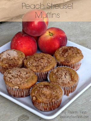 My Favorite Finds: Peach Streusel Muffins