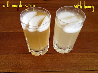 Making switchel: a refreshing honey and vinegar drink