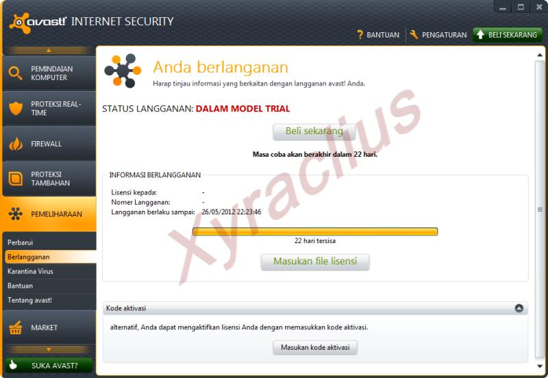 Avast Internet Security 2012 Full Serial Number/Lisense Key