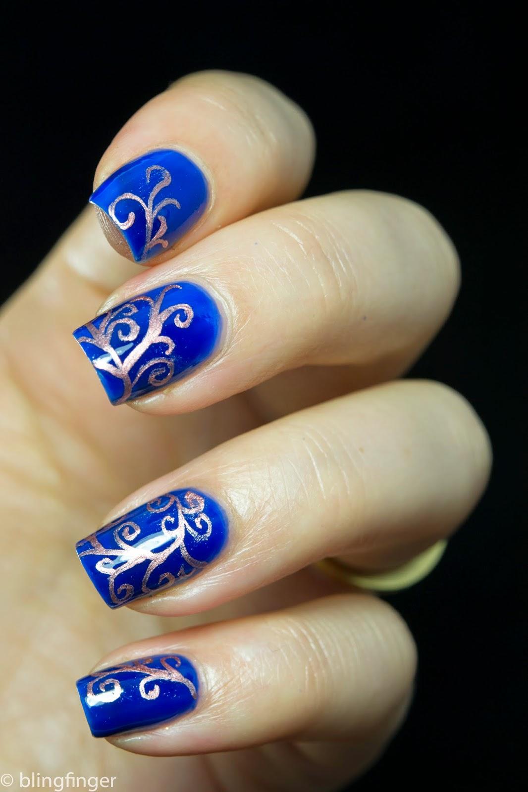 Blingfinger: Swirl Pattern - Nail Art