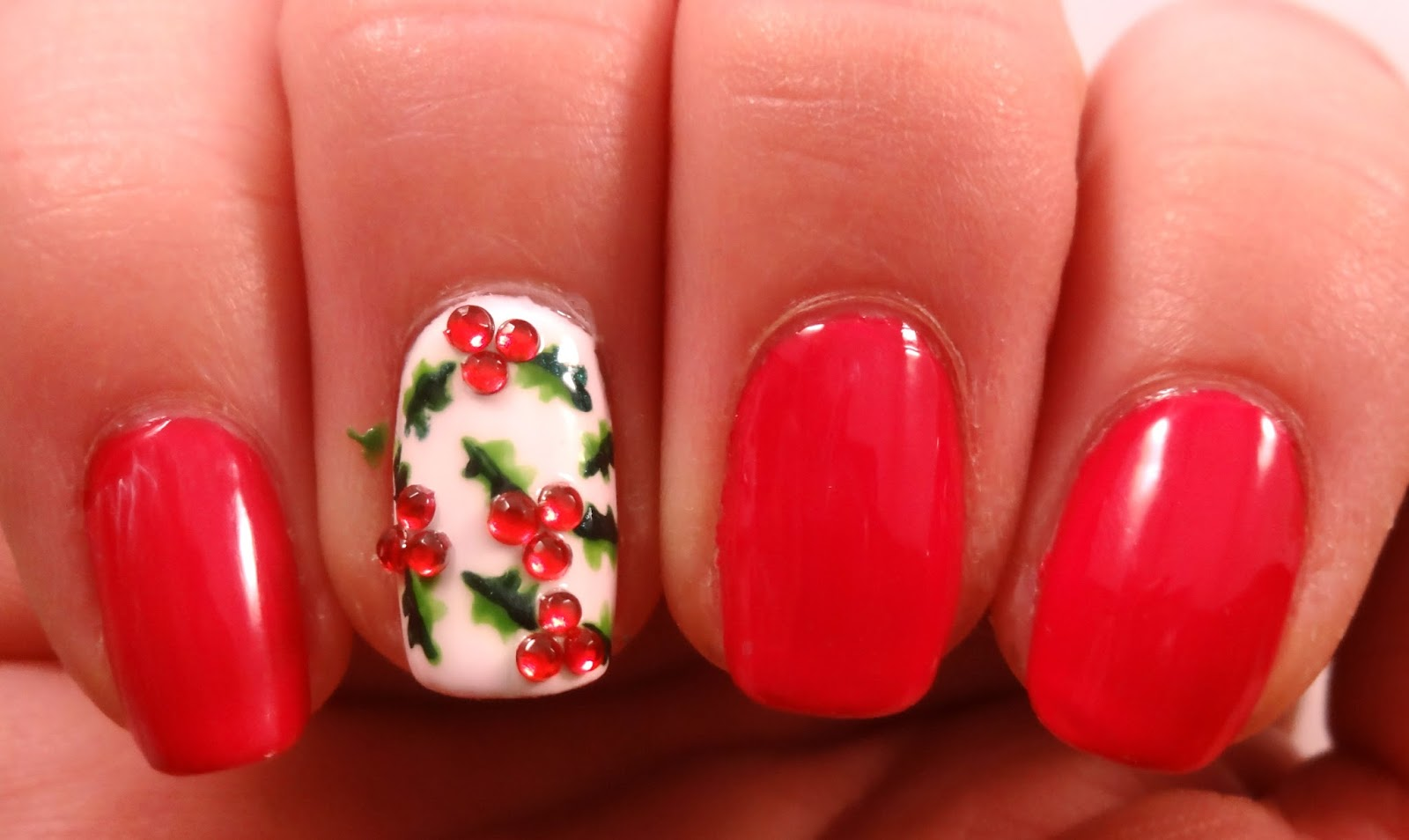 Holly Berry Rhinestones
