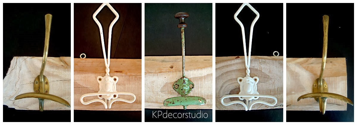 Kp tienda vintage online perchero de madera artesanal - Perchero madera pared ...
