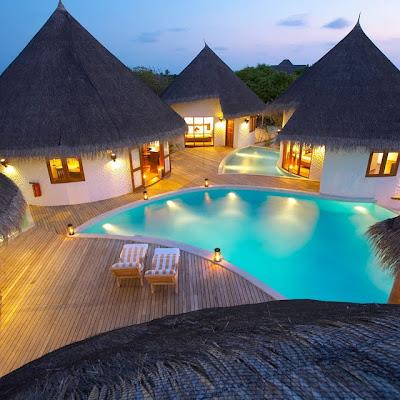 Hotel de Lujo en la Isla Hideaway de las Islas Maldivas Resort