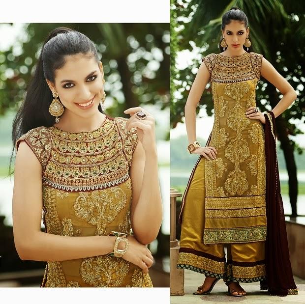 Indian Designer Georgette Embroidery Work Salwar Kameez