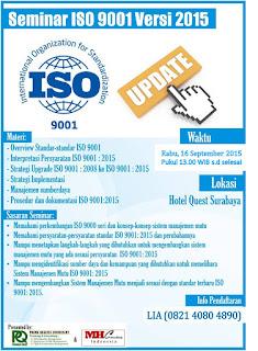 Event Seminar ISO 9001 2015 Surabaya