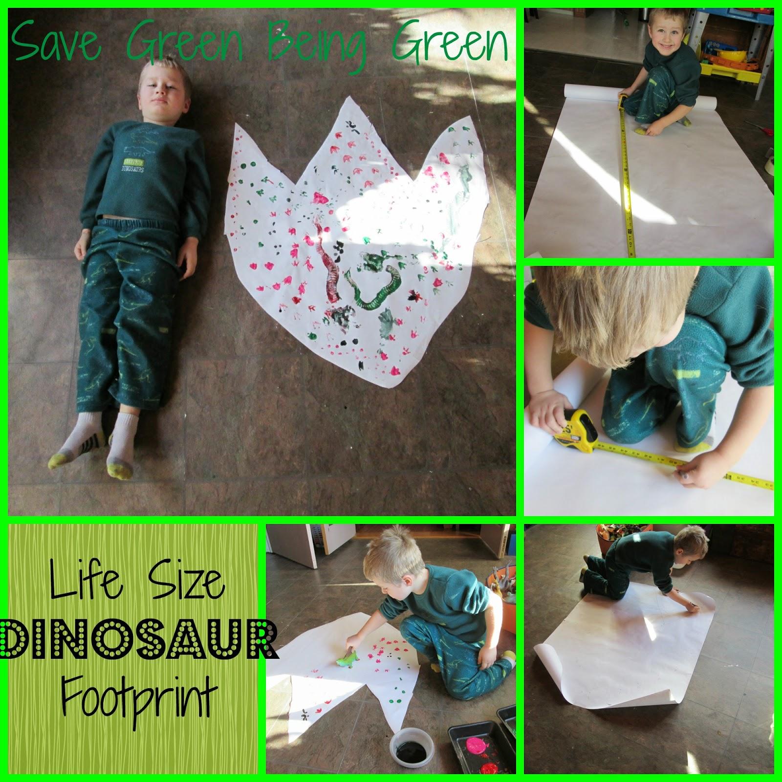 Life Size Dinosaur Foot Print Project