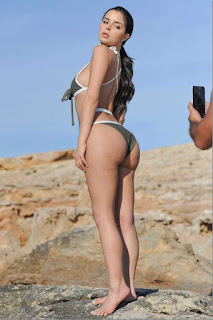 Demi Rose in Bikini Photoshoot on the Beach in Ibiza