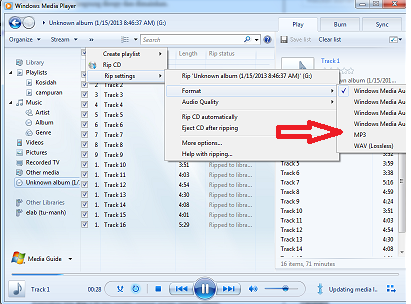 cara copy file cd Audio