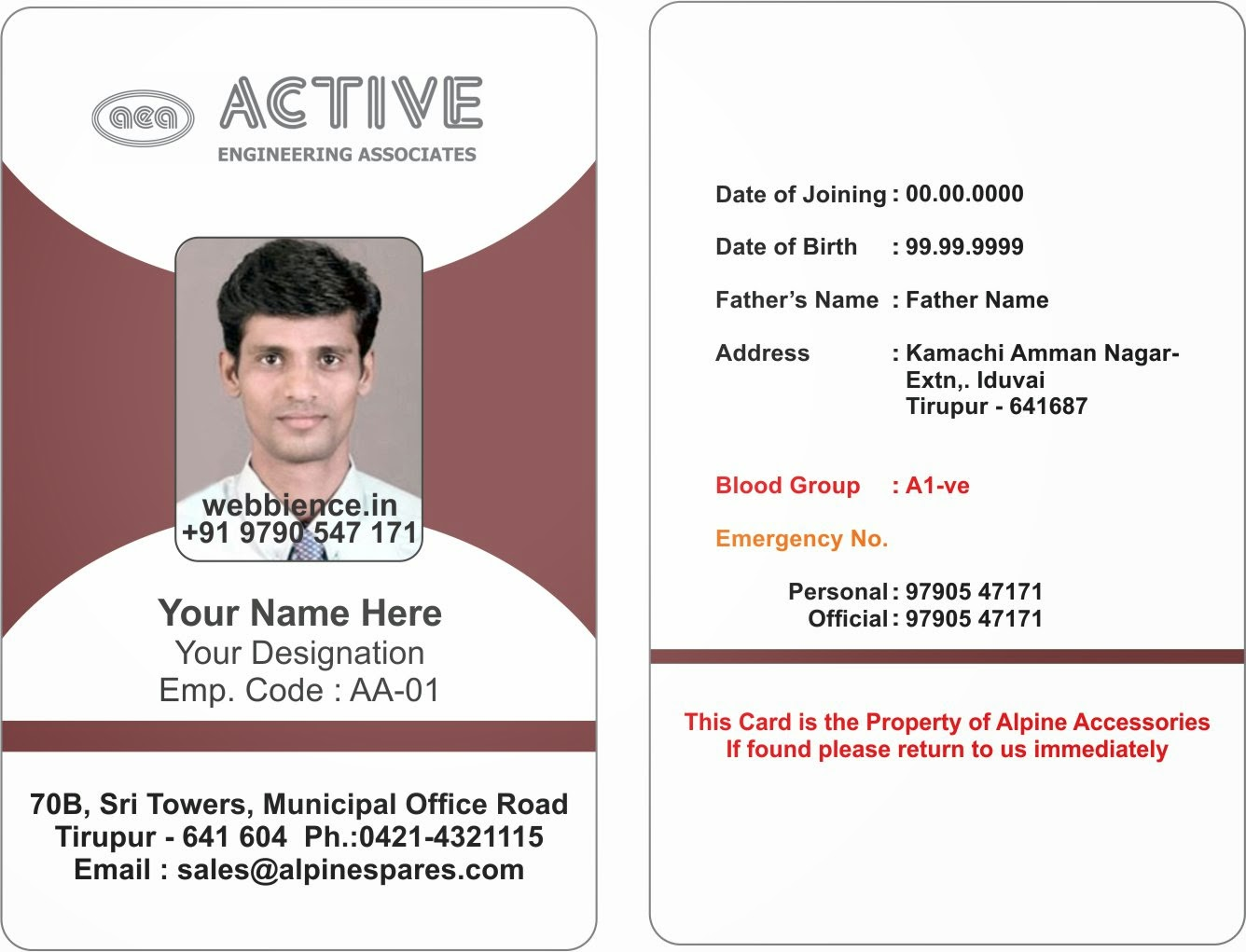Staff Id Template. 15 best images about employee id card template ...