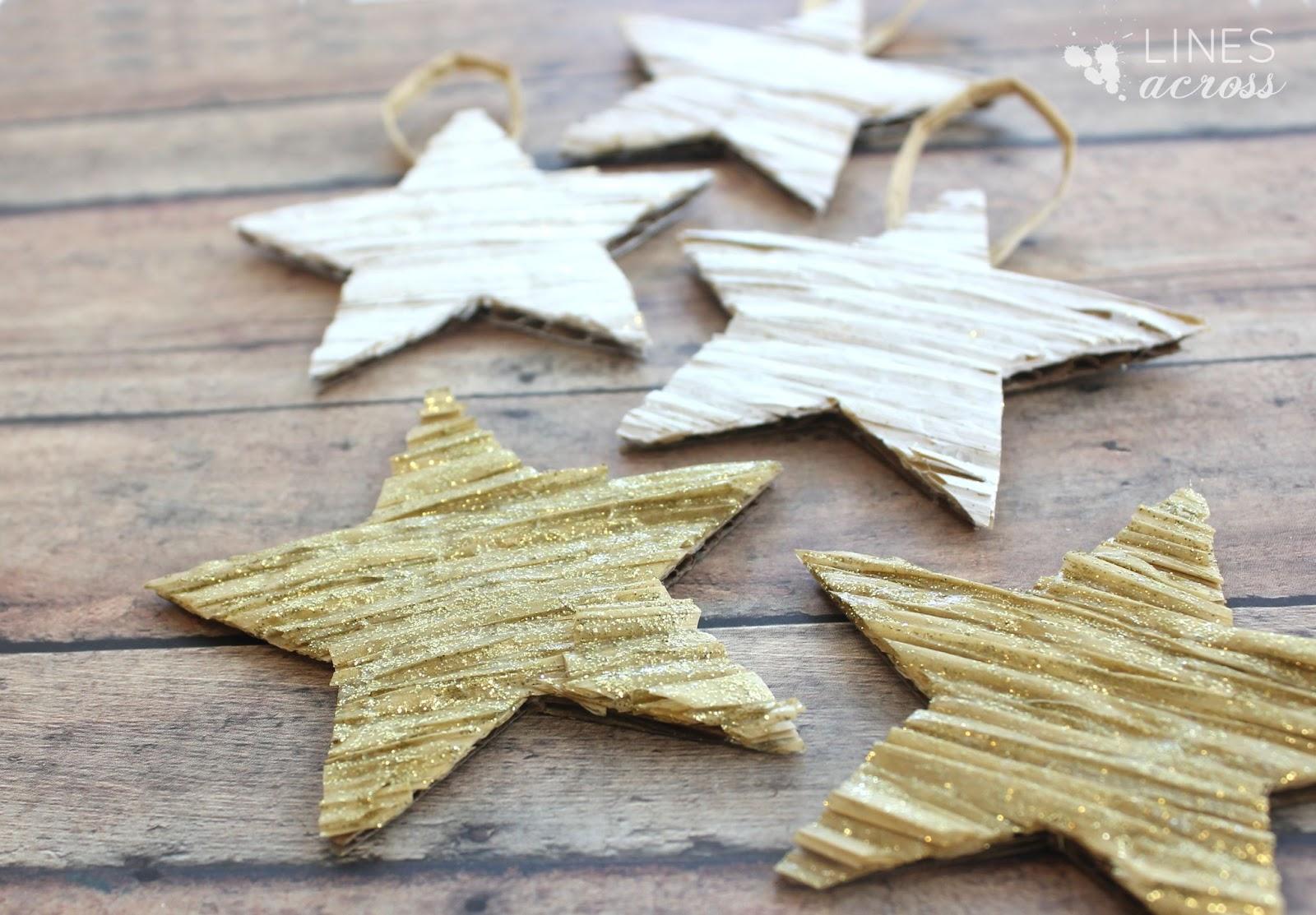 Gold star ornaments - Textured Star Ornaments