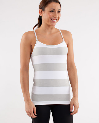 lululemon silver spoon striped power y tank