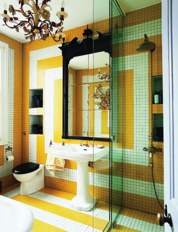 Bathroom by Shaun clarkson and Paul Brewster in the World of Interiors Magazine