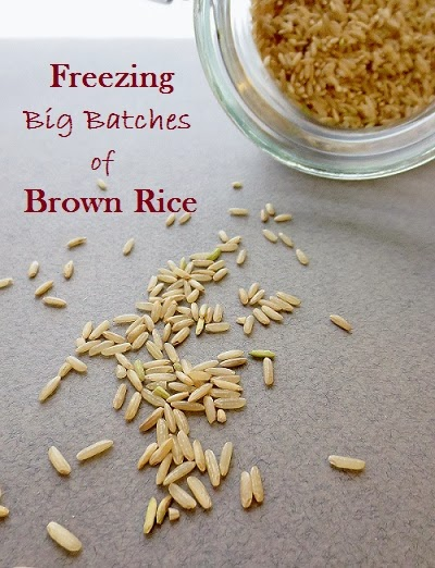how to freeze brown rice (gluten free, done dirt cheap), the benefits of soaking rice, and 6 quick brown rice based meals