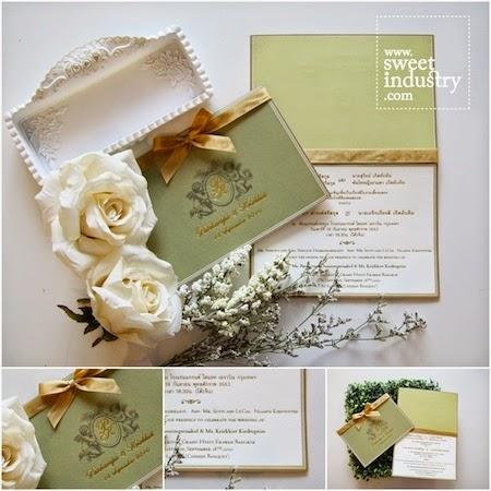 Thiệp cưới đẹp với phong cách Vintage nhẹ nhàng
