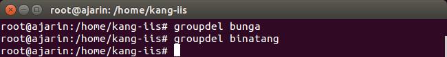 Perintah Linux - Fungsi groupdel