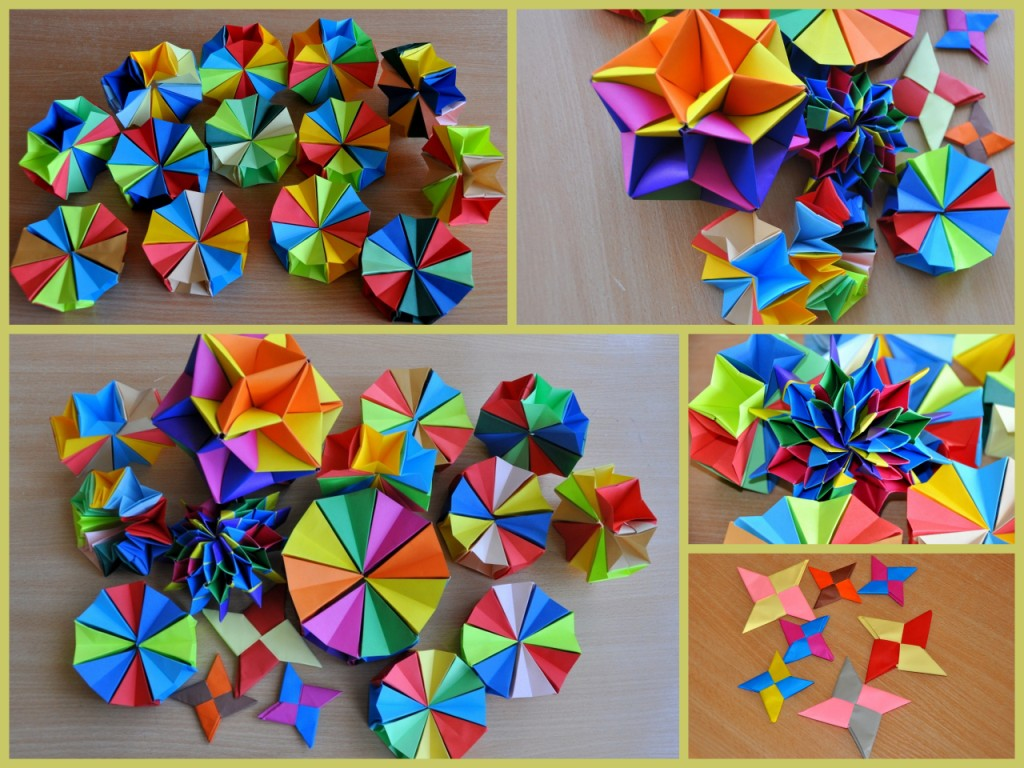 Open Door Day In Our School And We Made Some Pieces Of Origami Like Magic Circle Fireworks Ninja Stars With 2 Square Papers Silvanas Star Ball