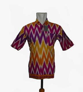 batik pria motif rangrang ungu