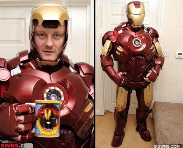 Ángel Sunley vende increíbles réplicas de trajes de Iron Man fabricadas por el