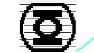 Green Lantern Symbol Ascii Text Art