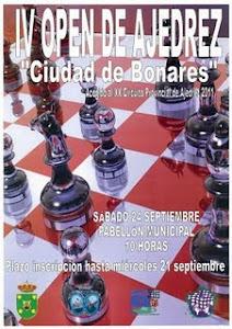 """IV OPEN DE AJEDREZ """"CIUDAD DE BONARES"""""""