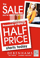 Debenhams Half Price Sale
