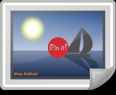 Blogger Resimlerinize Pinterest Butonu Ekleme