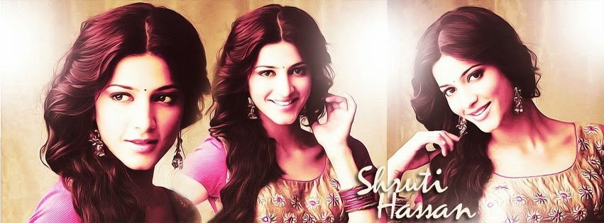 Stunning Facebook Cover Of Shruti Haasan.