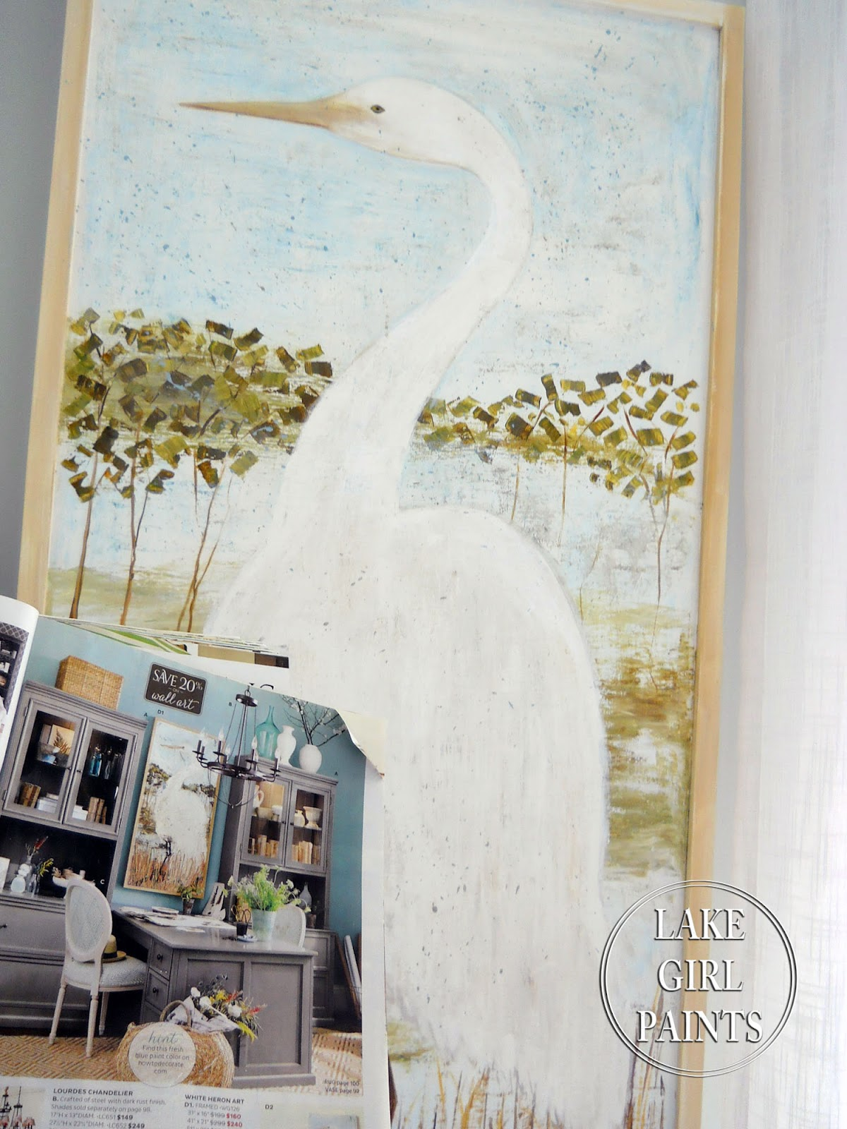 lake girl paints painting heron art i want to share how you can get the overall
