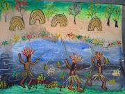Aldeia de Índios. (Aquarela sobre o papel). Postado por Valques Rodrigues às . (aldeia de indios)