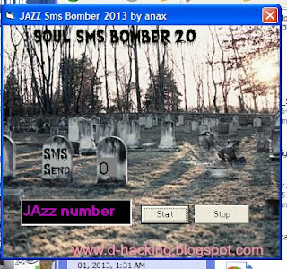 Free Download Jazz SMS Bomber 2013 100% working