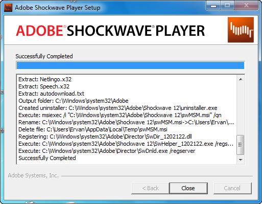 Adobe Shockwave Player 12.0.2.122 2