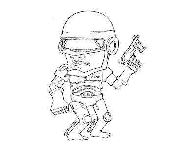 #5 Robocop Coloring Page