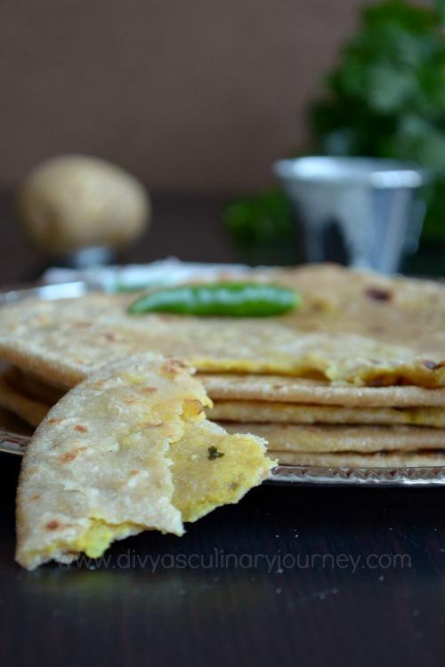 Divya's Culinary Journey: Vegan Aloo Paratha